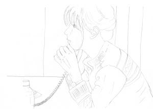 PHONE CALLsally outline