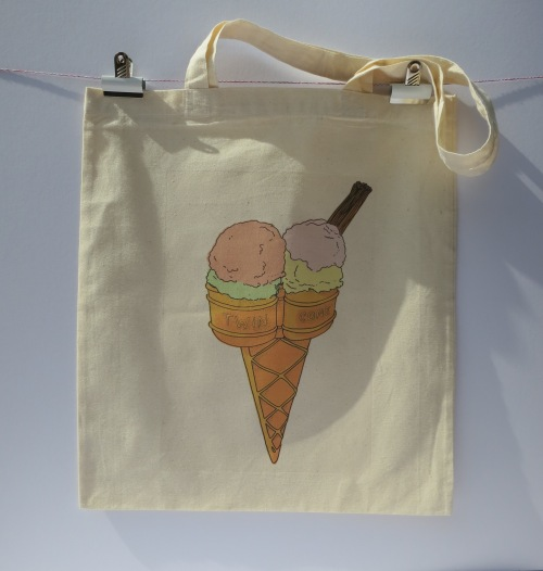 icecream tote double scoop long handles